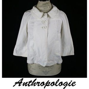 Anthropologie Sanctuary Clothing White Shift Coat